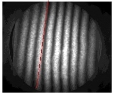 Underlying Fizeau Fringe pattern for HES spectrometer but with plates placed under tension.
