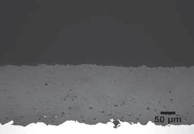 Plasma Spray Yttria Stabilized Zirconia 1494, 20x.
