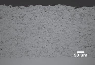 HVOF Aluminum 13 Titanium, 20x.