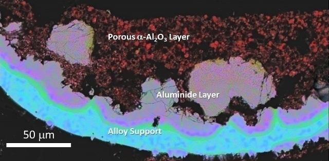 Photo (top) and SEM micrograph (bottom) of AlumiLok™ coated alloy foams.