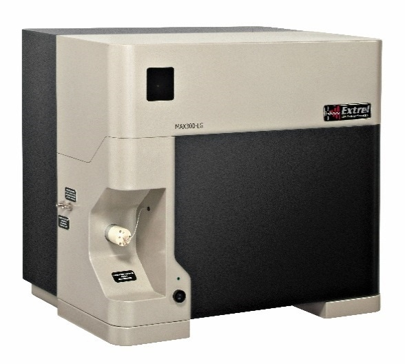 The MAX300-LG, laboratory gas analyzer, configured for the real-time quantitation of O2, CO2, N2, H2O, and trace volatiles within inspired and expired breath gas samples.
