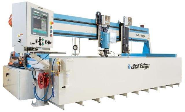 The EDGE X-5 5-axis waterjet system.