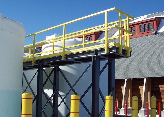 Fiberglass handrail is a virtually maintenance-free product