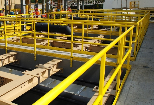 The majority of Strongwell handrail comes pre-fabricated to fit your specific application