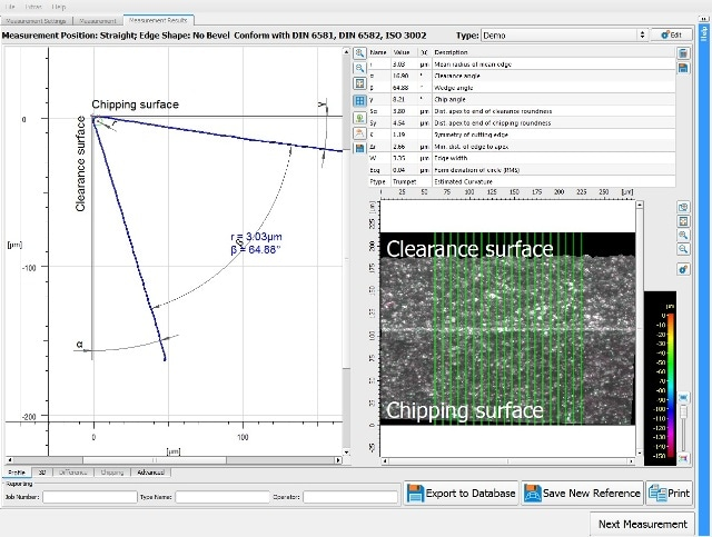 Radius and form measurement of edge rounding up to 3µm to increase tool quality and service life.