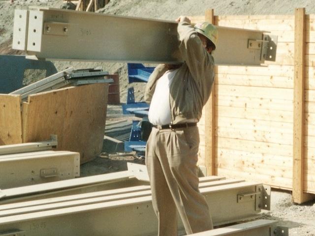 EXTREN® fiberglass structural shapes weigh 25% as much as steel
