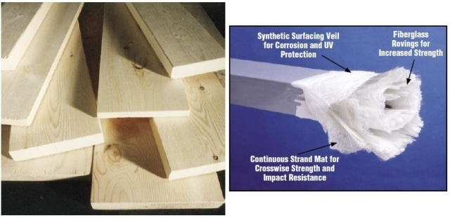 EXTREN® is stronger, more rigid and lighter weight than structural timber