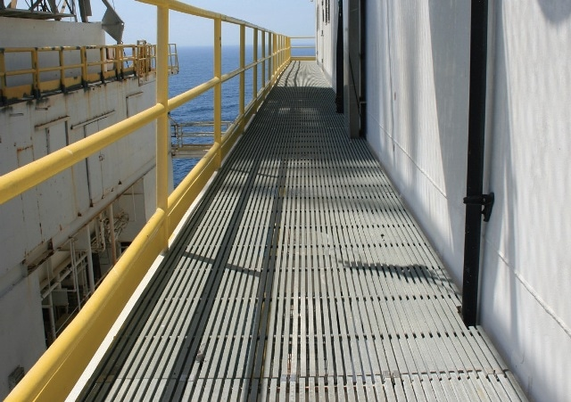 In 1979, DURADEK® grating was installed on Shell's offshore platform Ellen.