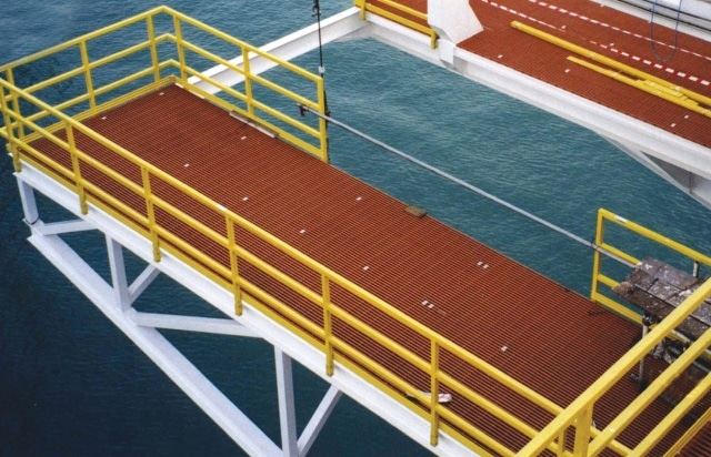 DURAGRID® Phenolic grating is used for fire integrity, weight savings and low maintenance and is U.S. Coast Guard approved.
