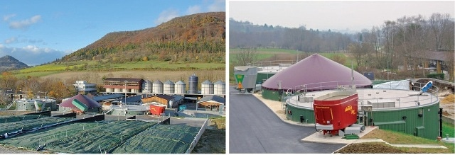 """The research biogas plant """"Unterer Lindenhof"""" is located on the Swabian Alb (German state of Baden-Württemberg) and is part of the Research Station for Livestock Farming and Animal Breeding."""