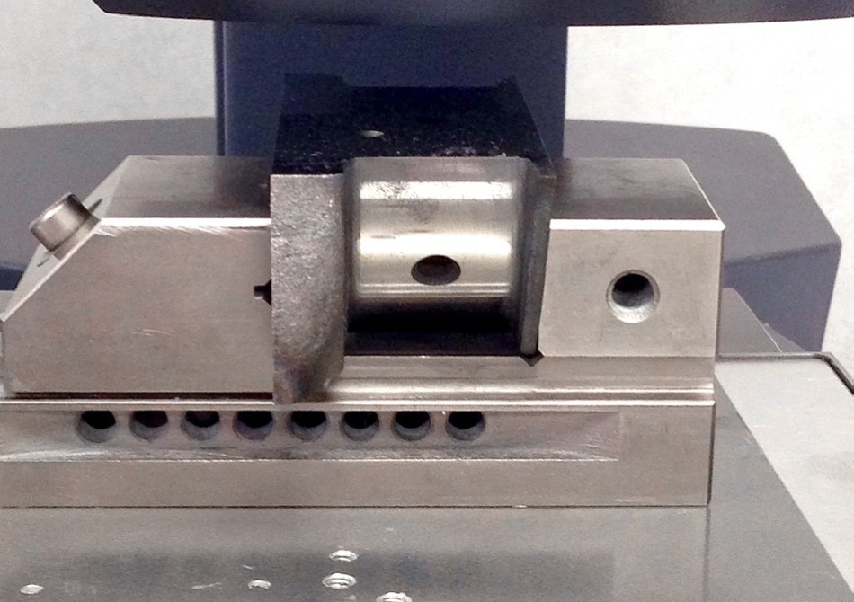 Crank pin held in machinist vice