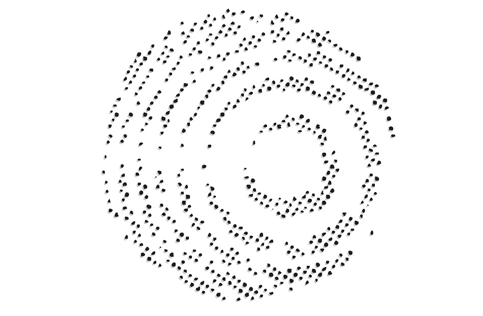 A crystallographic scattering patten. H.C. Starck also provide a range of R&D services including crystallographic and metallurgical analysis.