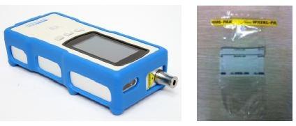 Nanoram and whirl-pak transparent bag