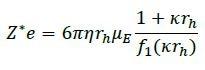 Debye-Henry-Hückel formula