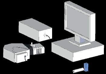 Schematic of experimental setup showing the Raman probe delivering the excitation source to the sample, collecting the Raman signal and delivering it into the spectrograph.