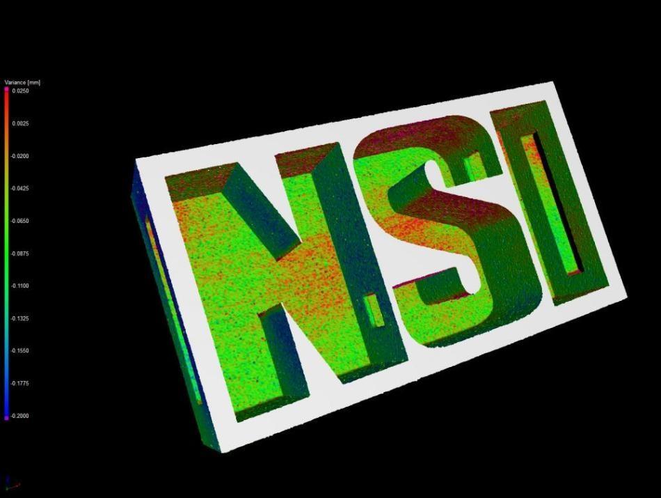 A plastic NSI logo