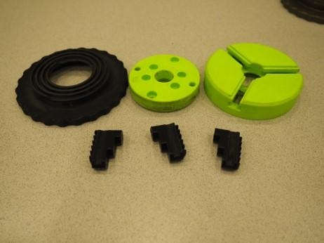 Printed components of the 3 Jaw chuck