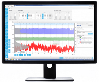 The LabOne® user interface of the UHFLI Lock-in amplifier uses the latest web browser technology. The instrument can be controlled from multiple browser sessions on multiple PCs, tablets, etc. at the same time. Every signal analysis and control tool has a dedicated tab. Some of the functionality is intuitively displayed in form of block diagrams.