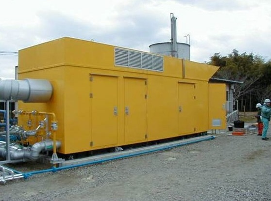 Typical Generator engine enclosure located adjacent to a customer site (Ref: Jenbacher)
