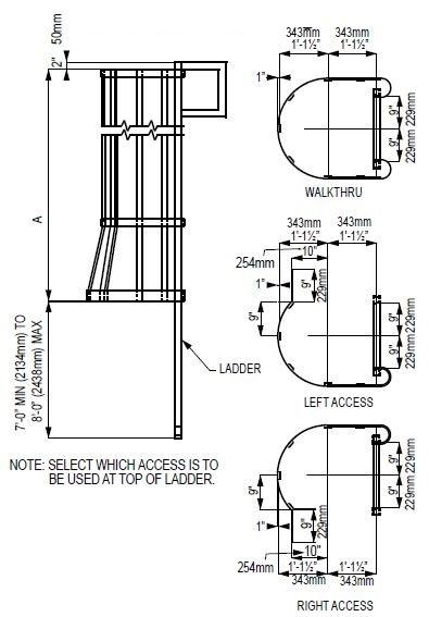 Standard Ladder Cage