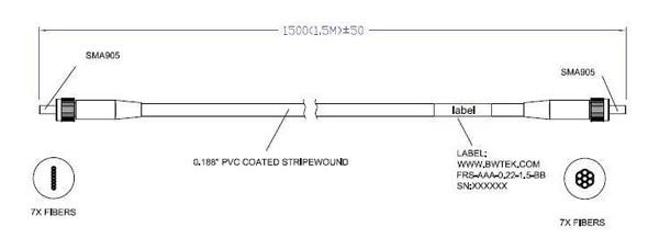 """Round to Slit"" Fiber Optic Bundle"