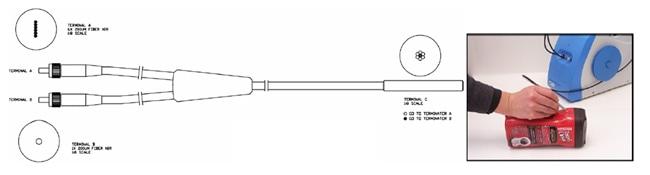 Fiber Optic Reflection Probe with Slit-to-Bundle Configuration