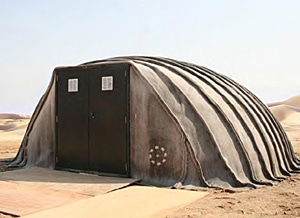Deployed Concrete Canvas shelter