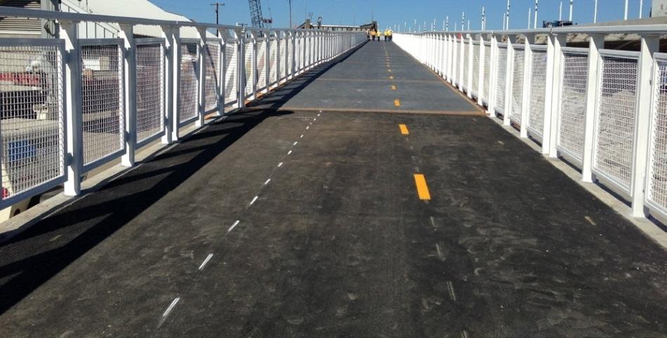 San Francisco-Oakland Bay Bridge in California recently opened a east span biking path