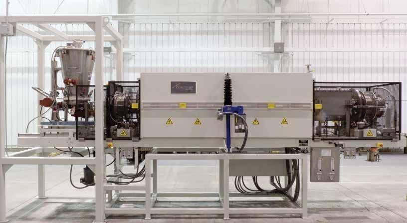 Rotary furnace system.
