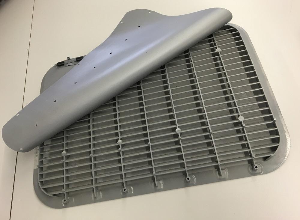 Air grill Decompression Baffle