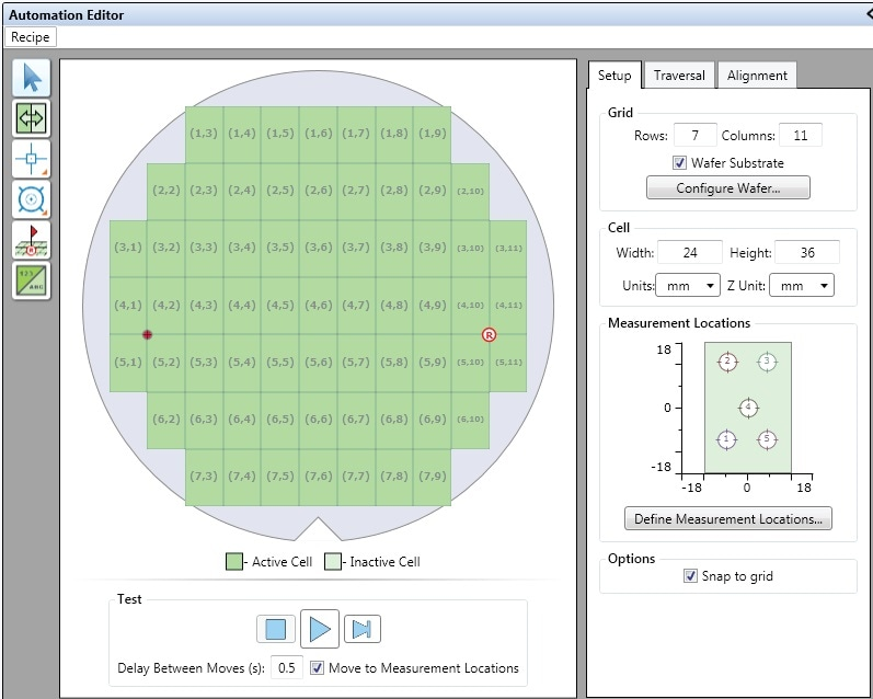 Example of XY Grid wafer automation.