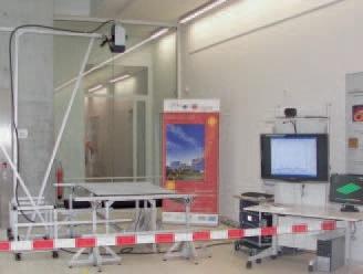 Vibration measurement test setup for solar panel characterization using the Scanning Vibrometer.