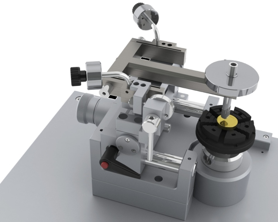 Anton Paar pin-on-disk tribometer for testing up to 400 °C.
