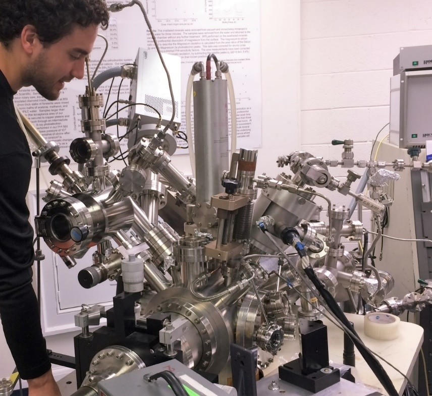 Experimental setup with Hiden Analytical EQS secondary ion mass spectrometer on a modified PHI 560 XPS/SAM system