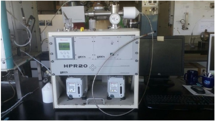 The Hiden HPR-20 QIC in the Lab used for characterization and testing of catalytic samples.