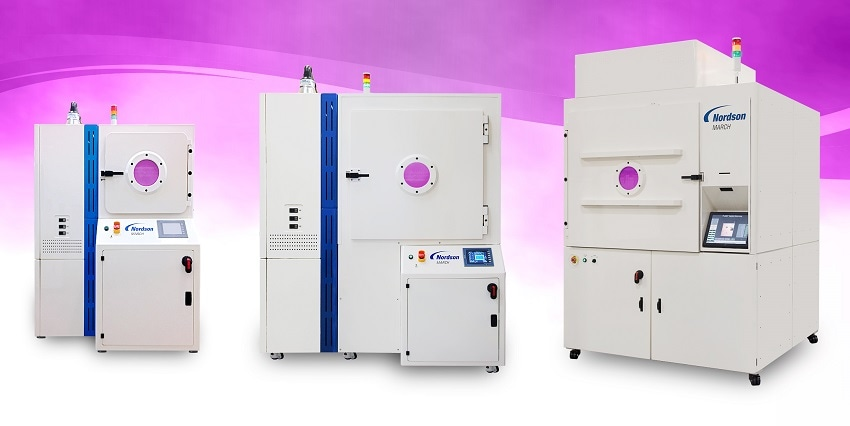 Plasma processing for polymer deposition has numerous benefits for applications for medical devices, electronics, elastomers, and many more industries. Nordson MARCH offers a range of plasma treatment systems to fit the requirements of the process.
