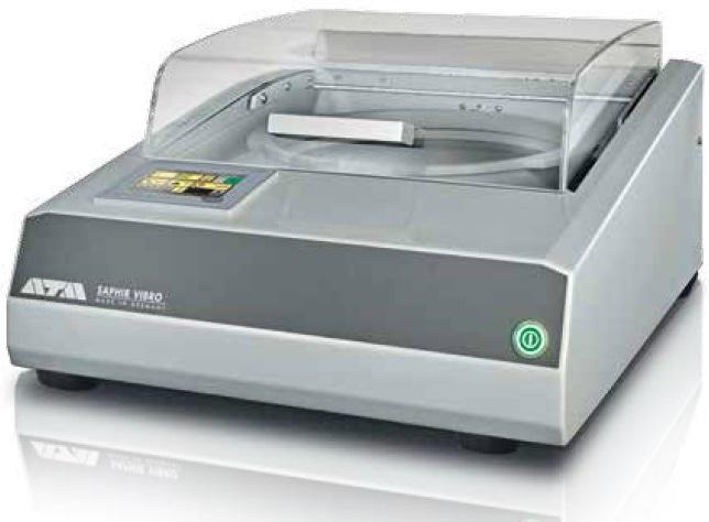 "Vibratory polishing device of ATM GmbH: ""Saphir Vibro""."