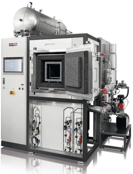 HTK 25 GR/30 furnace up to 3000 °C with debinding equipment.