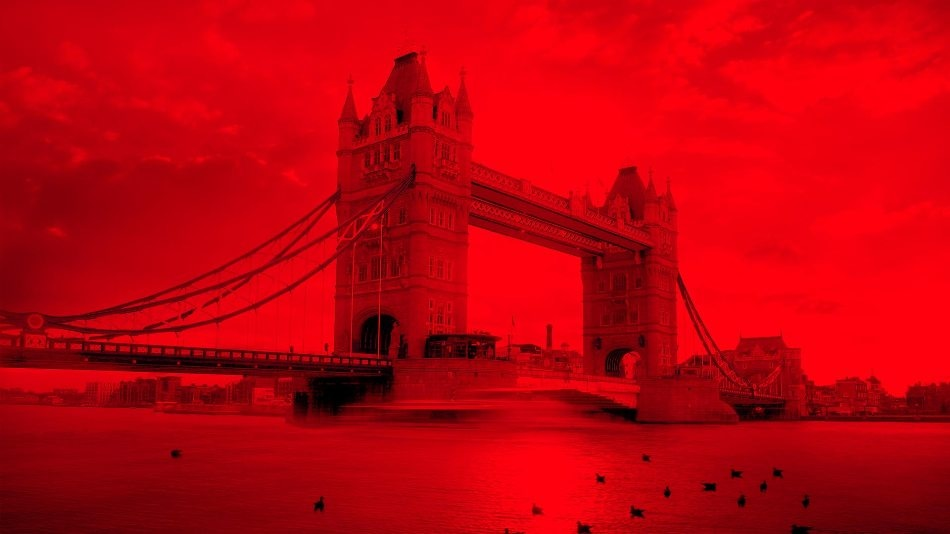 Tower Bridge London affected by traffic conditions