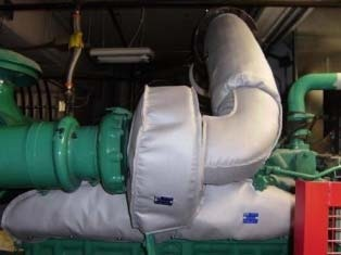 Insulation Blankets on engine manifold, turbo and exhaust piping