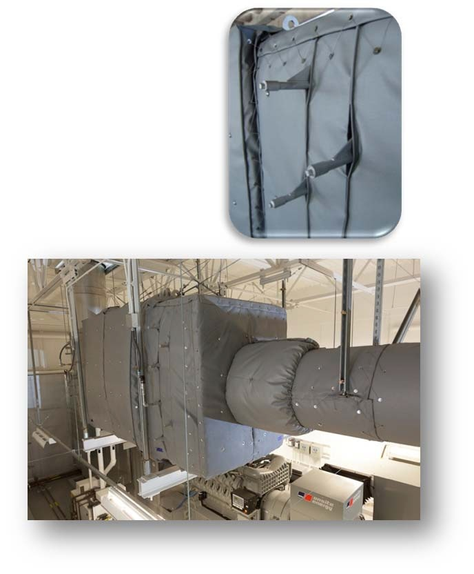 SCR System with Removable Insulation Blankets Installed