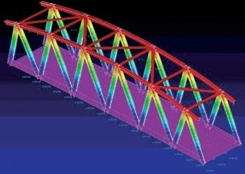 FEA of hybrid bridge section