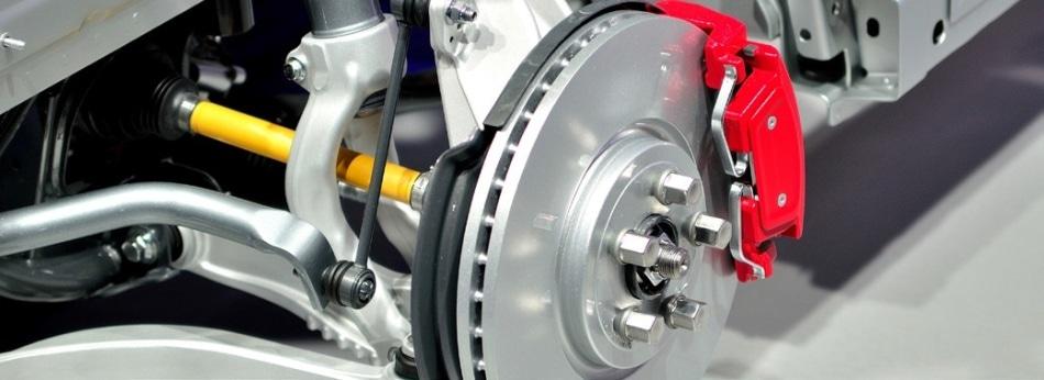 Brake assembly of rotor and pad.