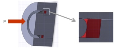 Extrusion test fixture.