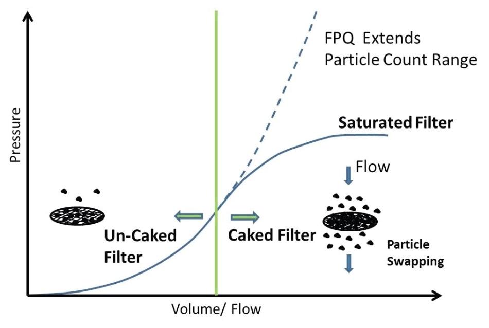 FPQ Filter vs Conventional Pore Blockage Filter.