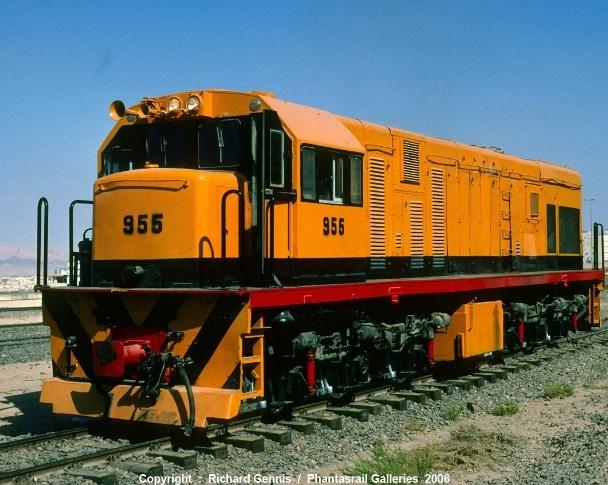 EMD medium speed diesel locomotive.