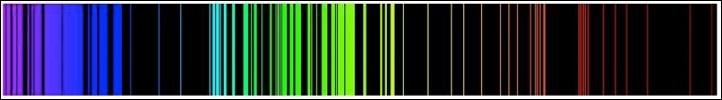 Emission Spectrum of Iron.