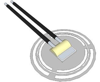 Sensor element soldered onto foil