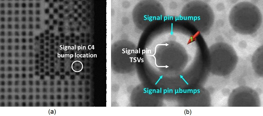 CSAM imaging at signal pin C4 bump