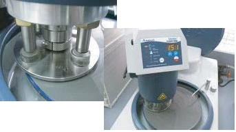 Four semi-finished samples in single-force holder